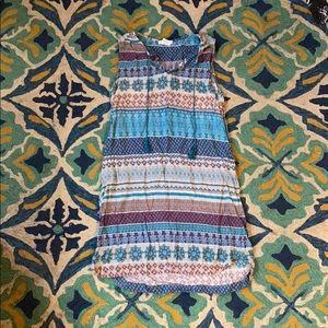 Turquoise pattern cover up and dress